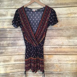Band of Gypsies Blue Romper Size Small